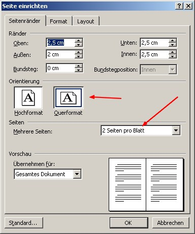 Office Word 2003 Und Das Din A5 Format Programmierung Officeword