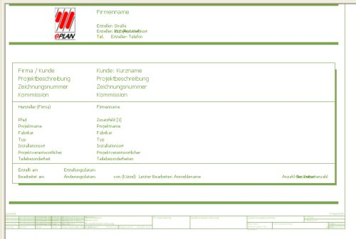 Deckblatt bearbeiten elektrotechnik eplan electric p8 for Eplan login