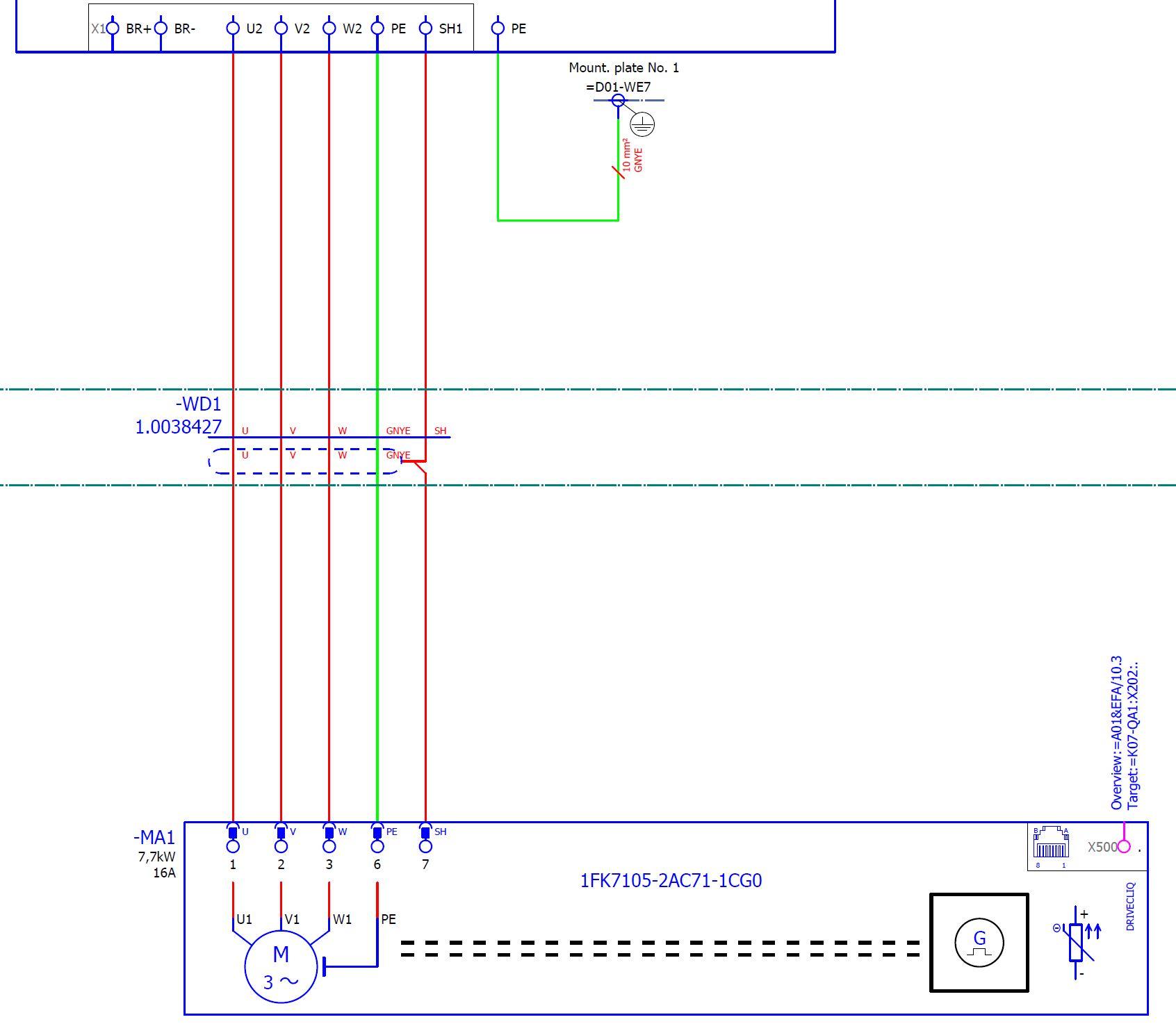 Verbindung Kabelschirm mit Schirmanschluss Elektrotechnik/EPLAN ...
