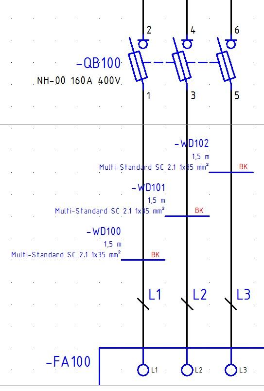 Kabeldefinition von Einzeladern (Elektrotechnik/EPLAN Electric P8 ...