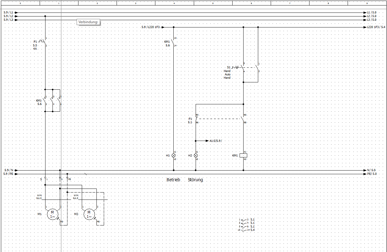 Verbindungen Linienart bestimmen Elektrotechnik/EPLAN Electric P20 ...