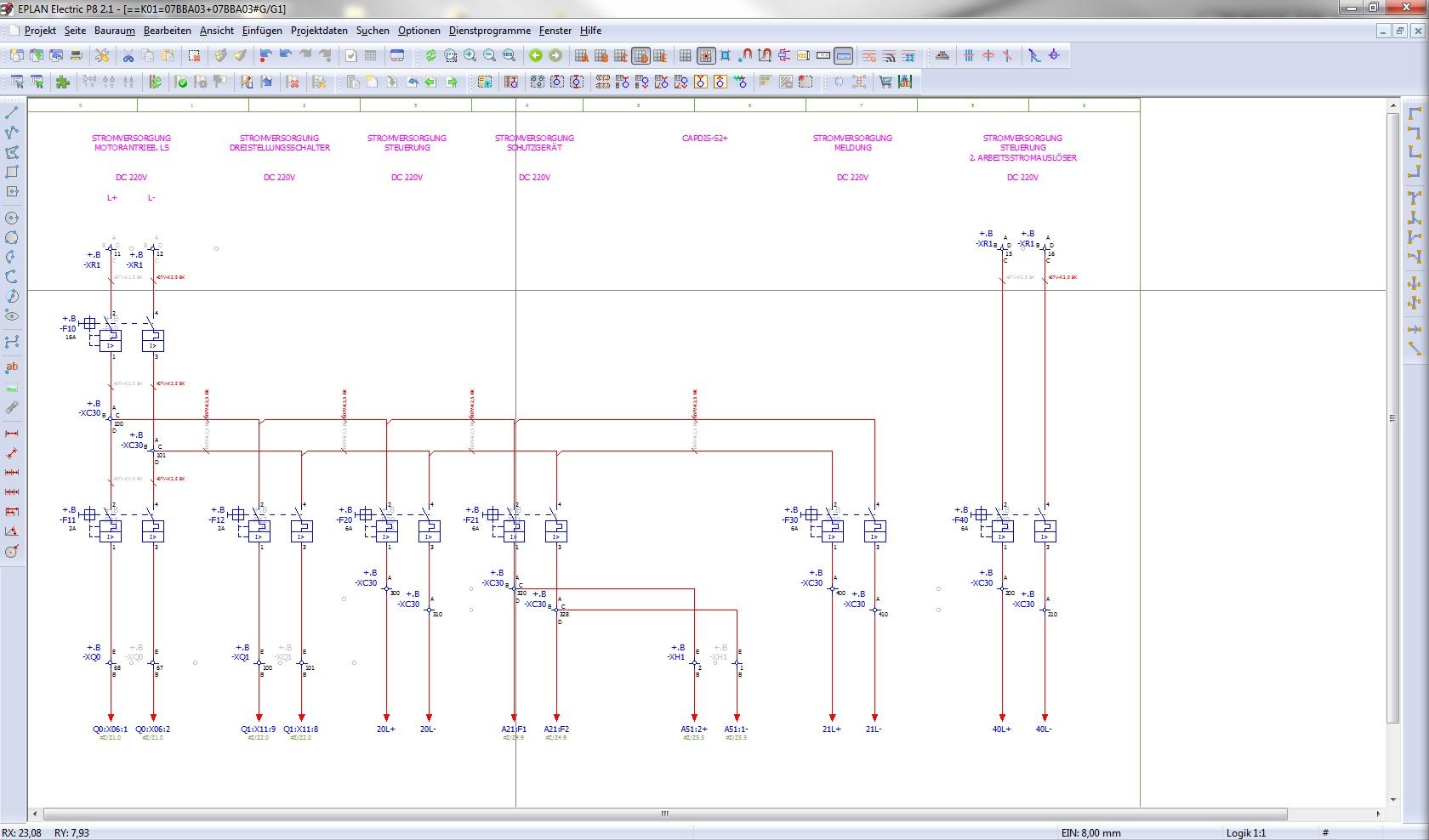 Klemmenplan 4 ziele in einer zeile darstellen siehe bild for Eplan login