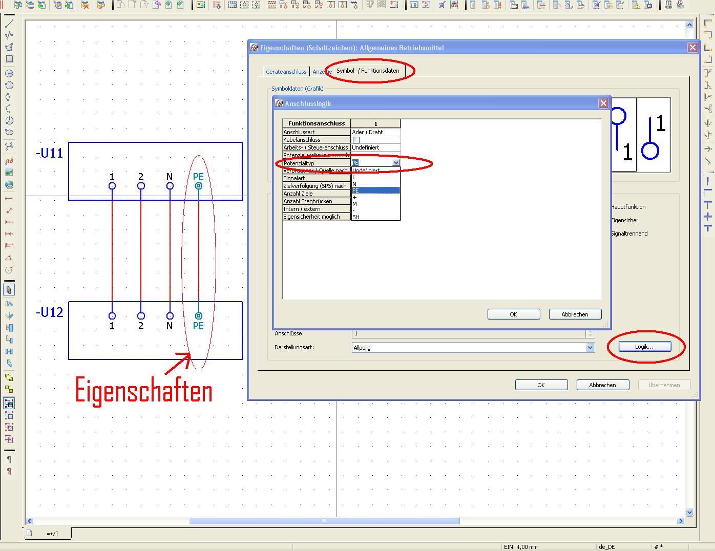 Verbindungslinie Darstellung ändern Elektrotechnik/EPLAN Electric ...