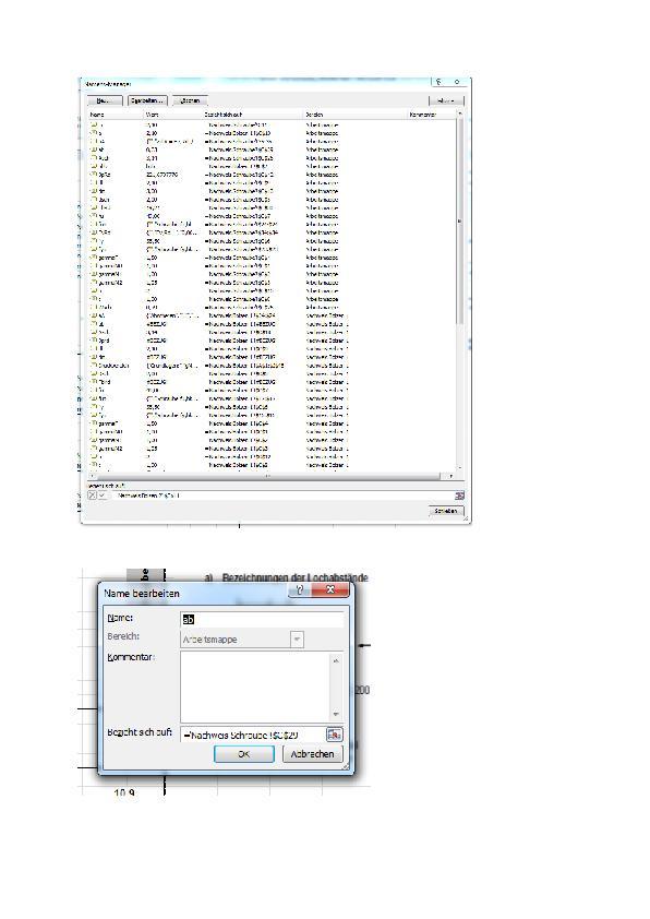 Namensmanager (Programmierung / Office/Excel) - Lösung vorhanden ...