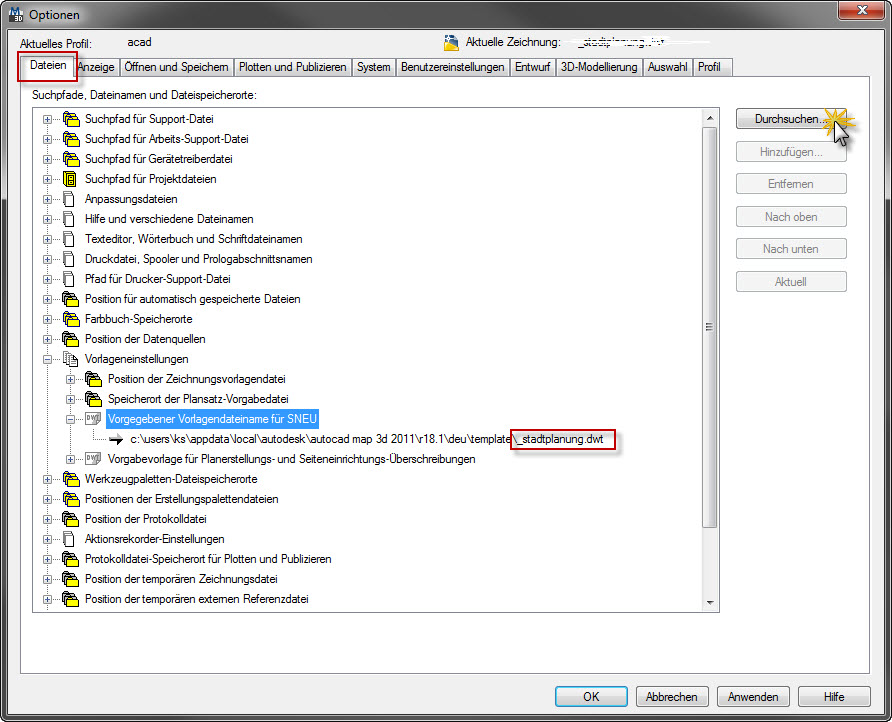 Vorlage (Autodesk/AutoCAD LT) - AUGCE.de