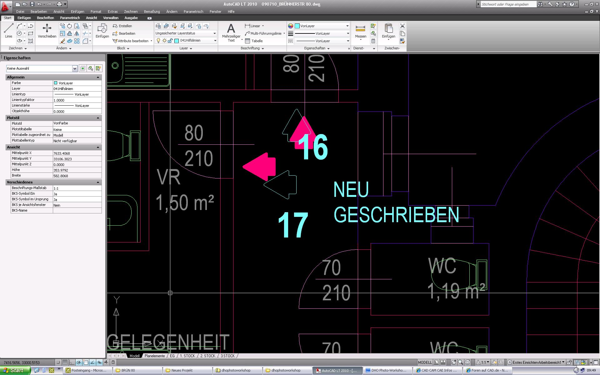 Elemente werden im layout nicht angezeigt (Autodesk/AutoCAD LT ...