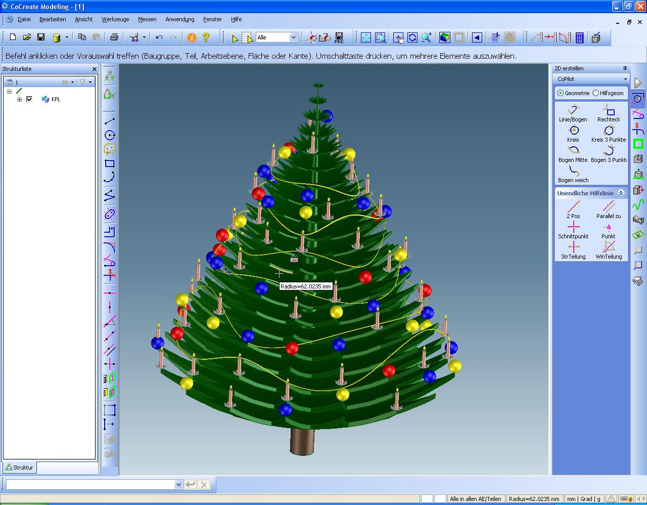 3d cad weihnachtsbaum