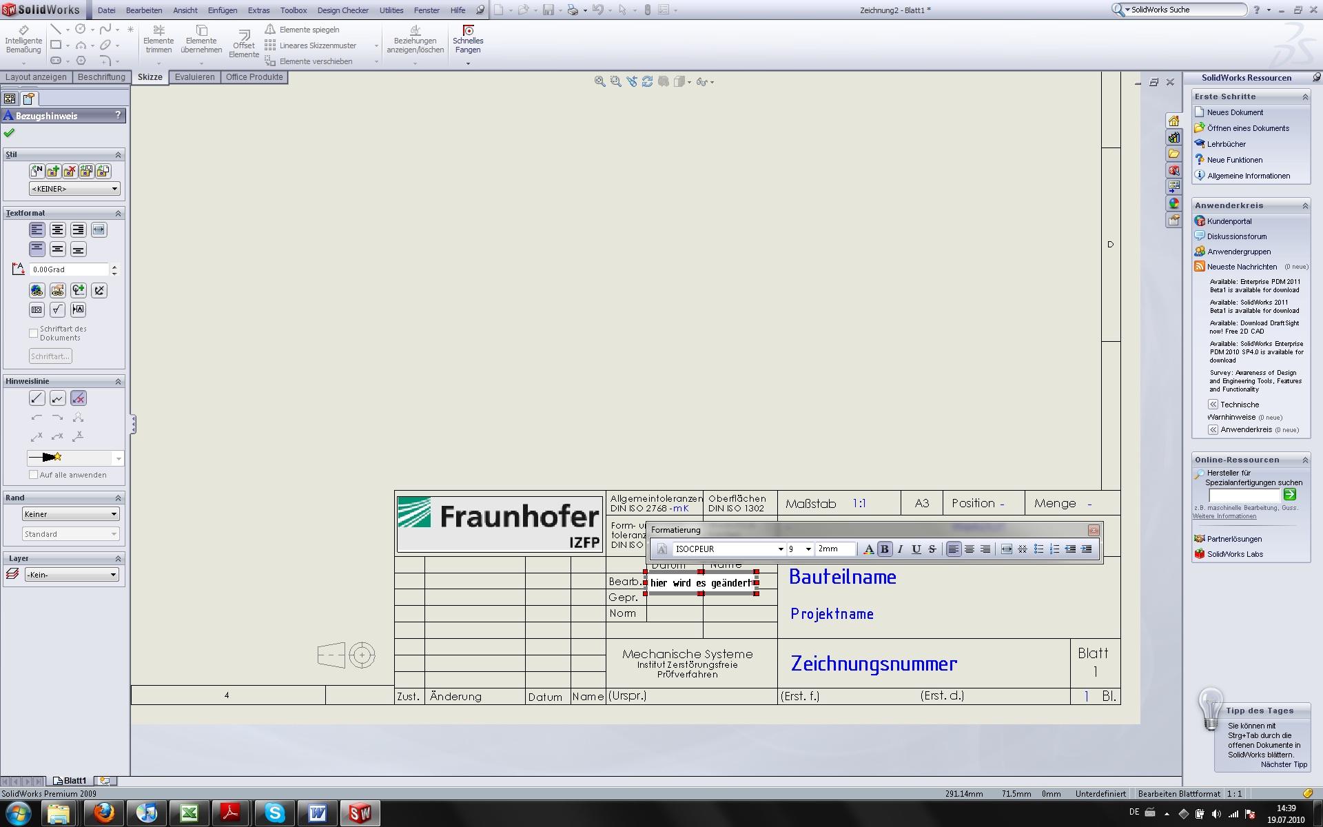 Blattformat nachträglich ändern (DS SolidWorks/SolidWorks) - Foren ...