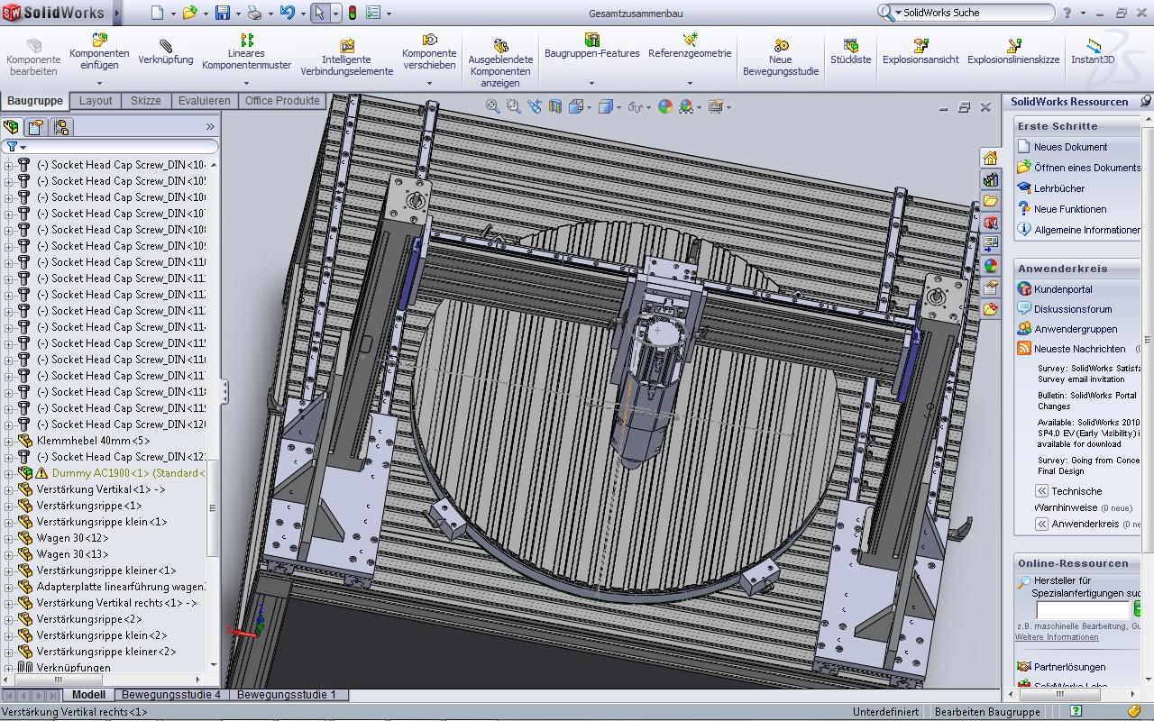 Anordnung Verstärkung (DS SolidWorks/SolidWorks) - Foren auf CAD.de