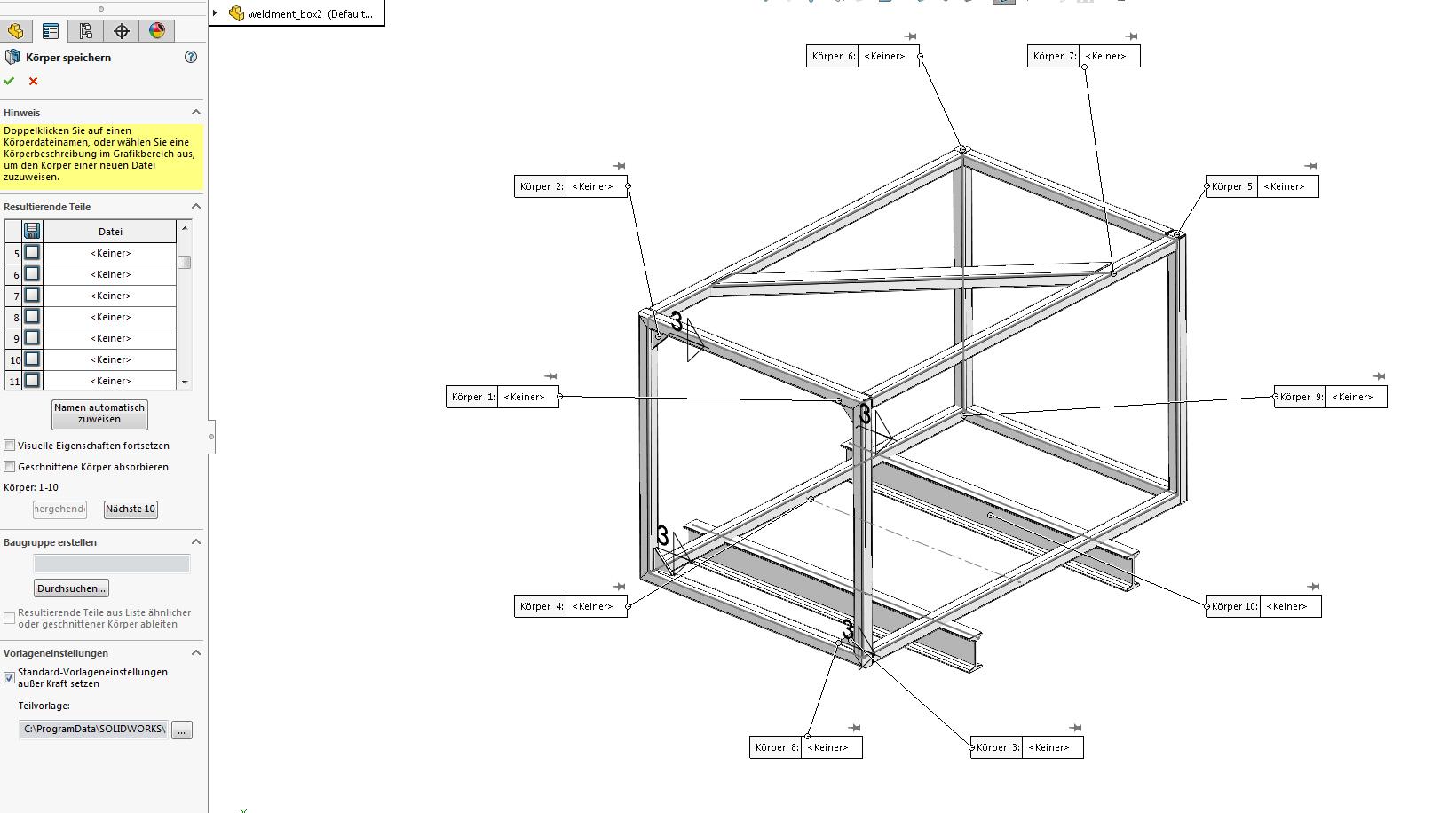 Schweißkonstruktion mit Gehrung (DS SolidWorks/SolidWorks) - Foren ...