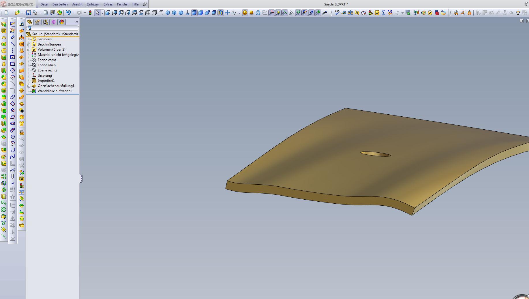 3d Skizze Austragen Und Blechteil Erstellen Ds Solidworks