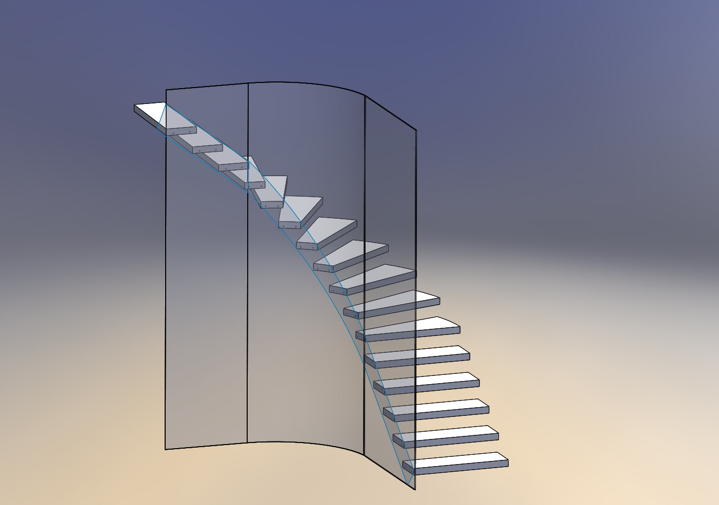 treppe mit radius ds solidworks solidworks l sung vorhanden foren auf. Black Bedroom Furniture Sets. Home Design Ideas