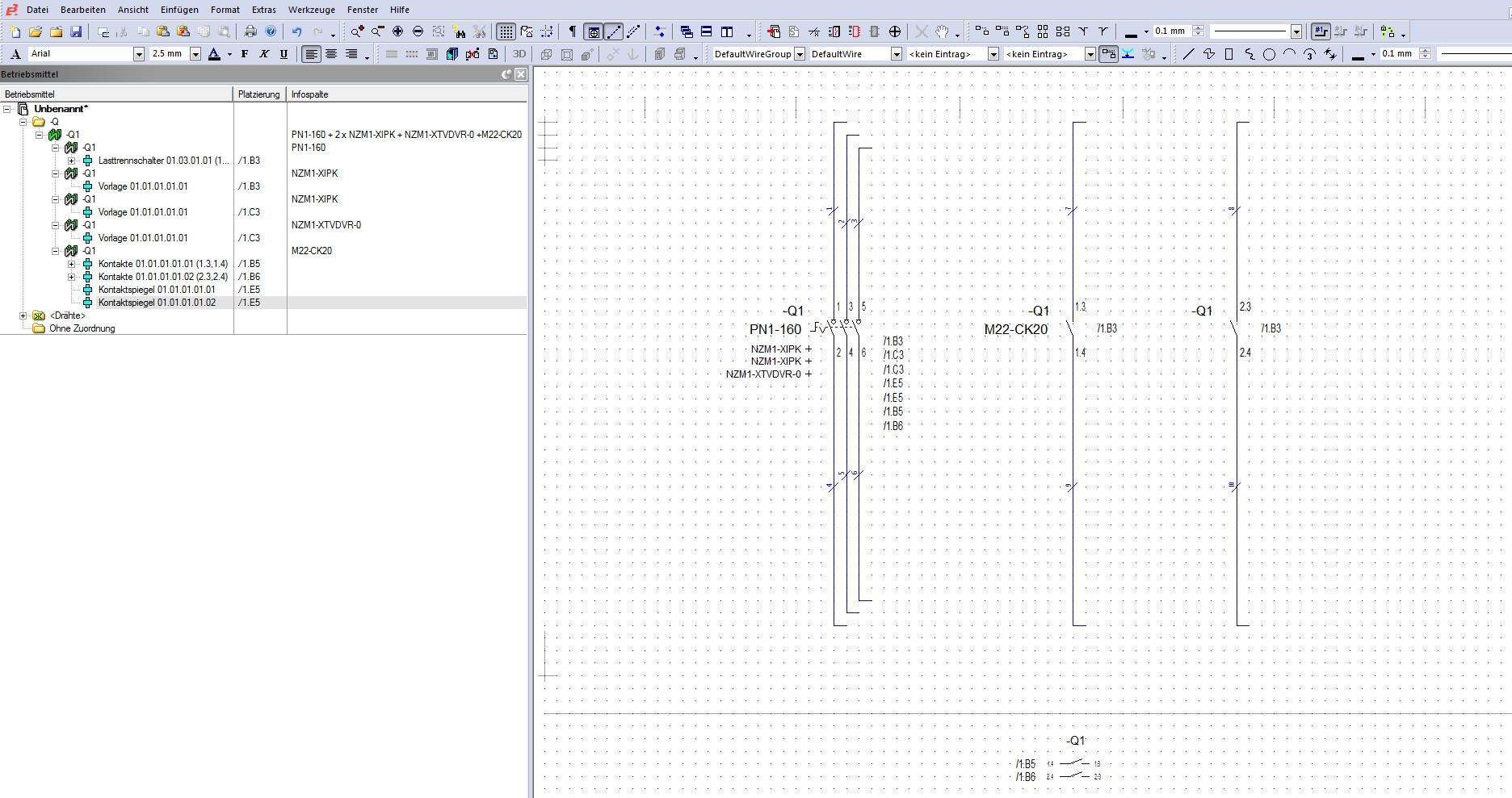 Bauteil mit Zusatzteilen (Elektrotechnik/E3.series) - Lösung ...