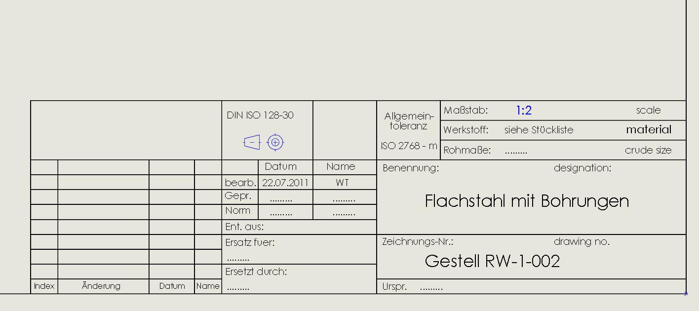 Unterschiedliche Linienarten im Blattformat (DS SolidWorks ...