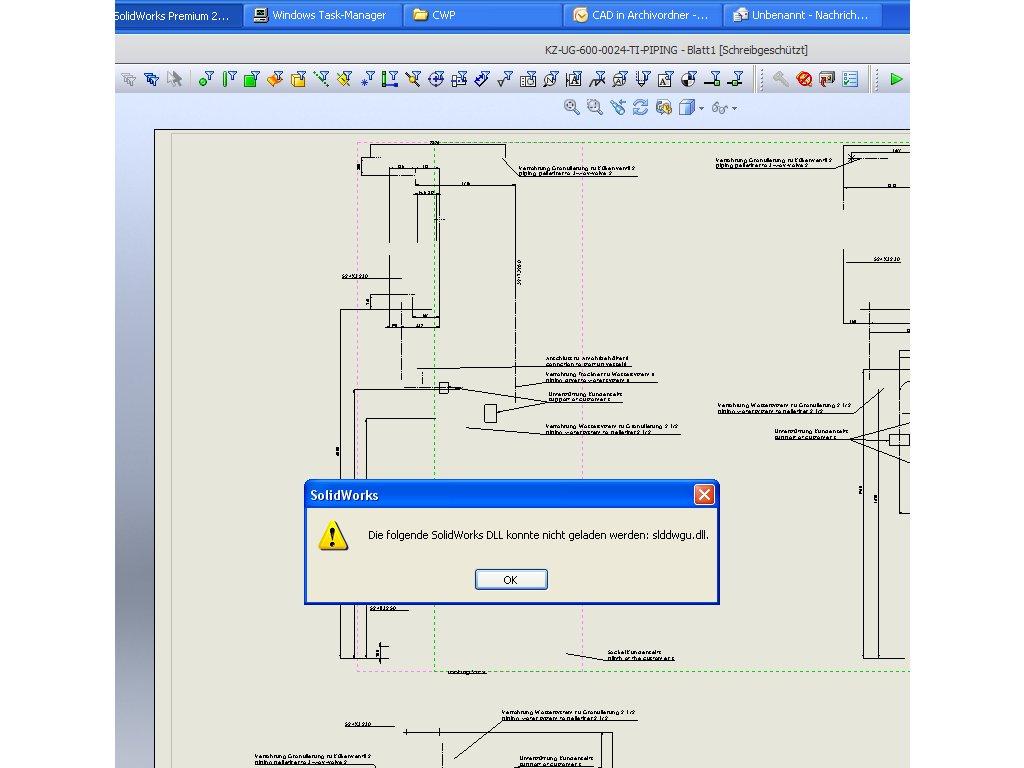 Dxf Fehler Ds Solidworks Foren Auf Cadde Piping Diagram Fehler1