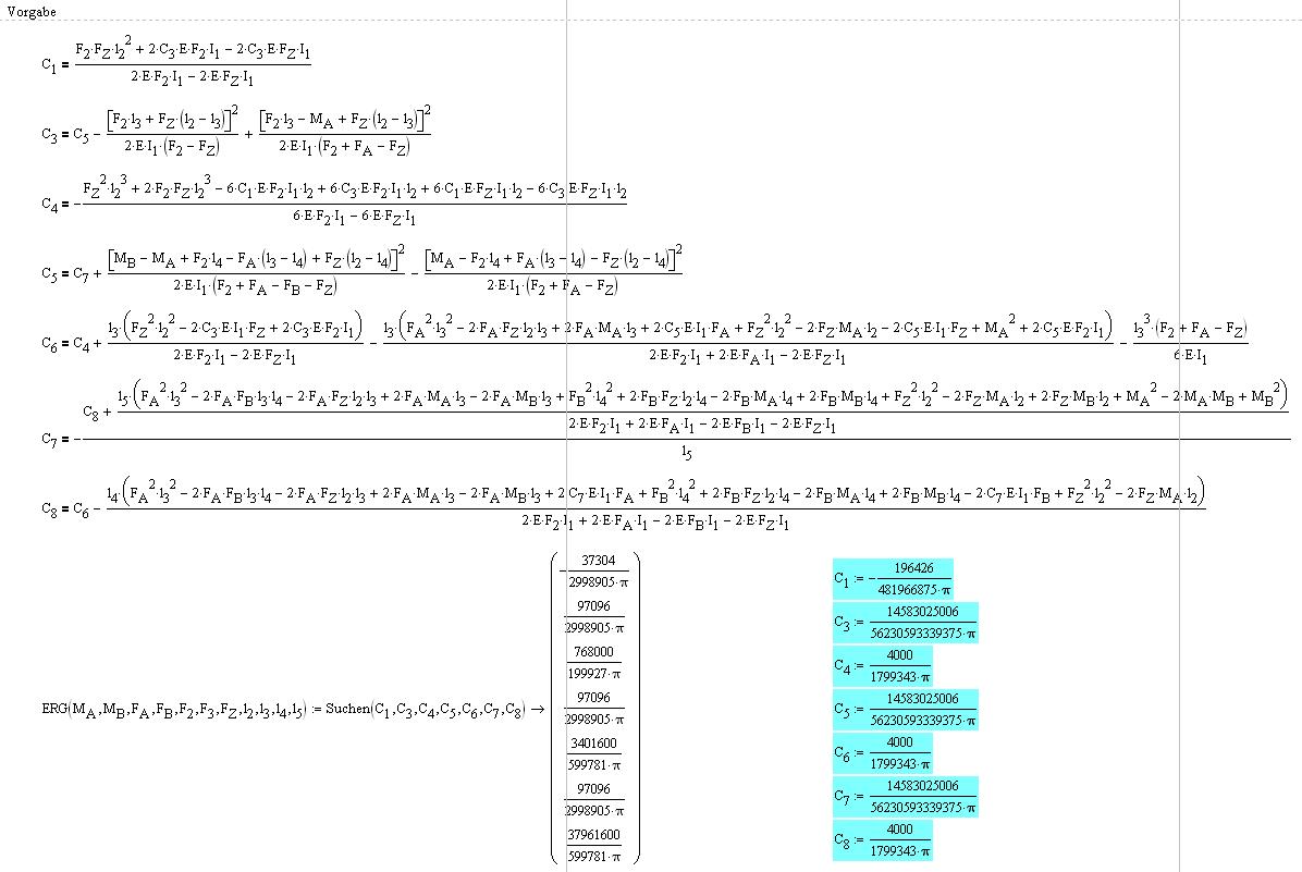 Gleichung lösen + gelöste Variablen wertmäßig zuweisen ...