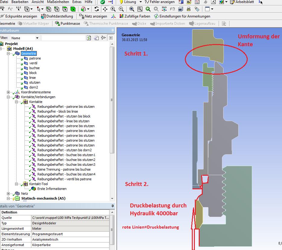Kontaktprobleme in einer nichtlineare strukturmech.Simulation (FEM ...