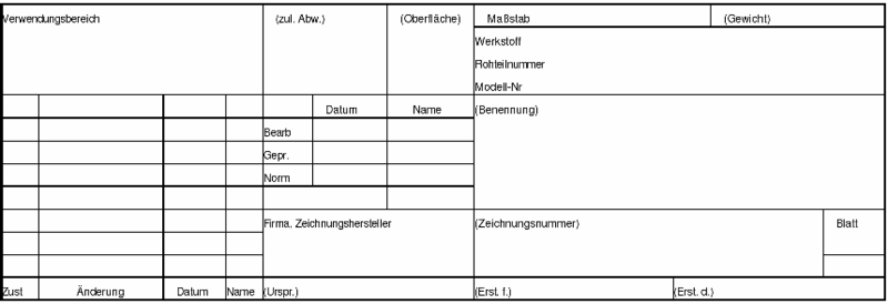 Schriftfeld Zeichnugsrahmen Ptc Engineering Solutions Pro Engineer Foren Auf Cad De