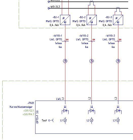 Richtige Lichtleiterdarstellung (Elektrotechnik/EPLAN Electric P8 ...