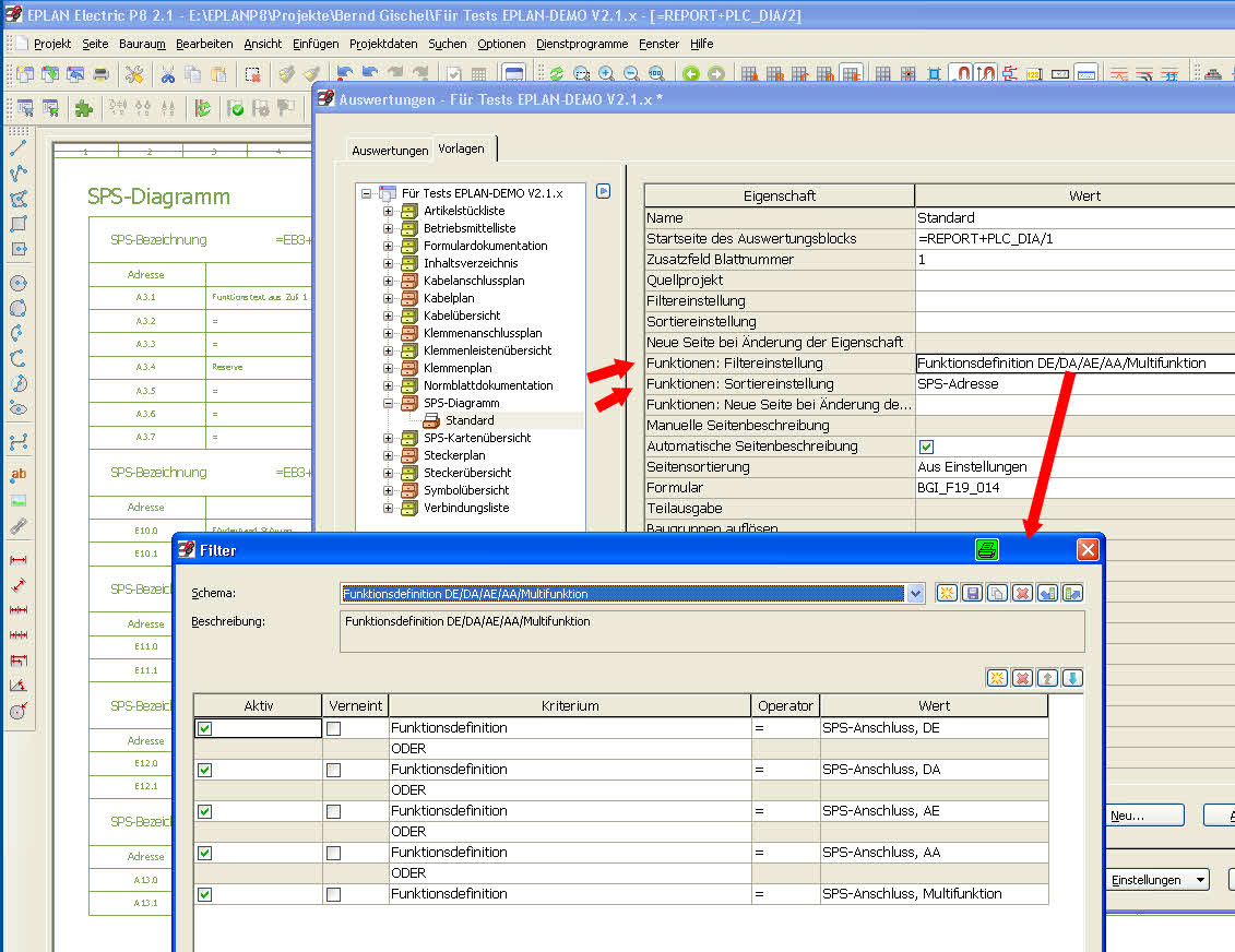SPS-Diagramm Auswertung - nur E/A Liste (Elektrotechnik/EPLAN ...