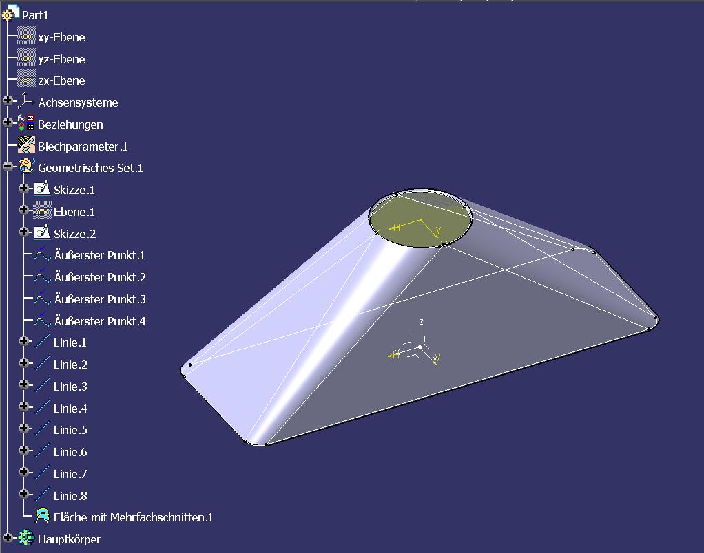 Sheetmetal Design Rund Auf Eckig Dassault Systemes Plm