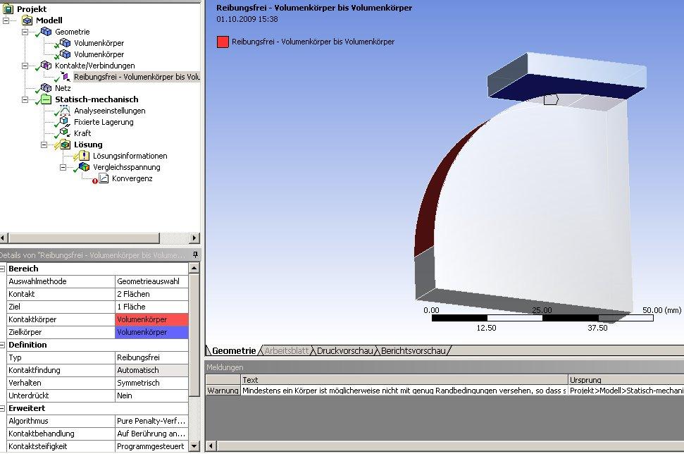Problem mit Simulierung eines entstehenden Spalts (FEM / Genormte ...