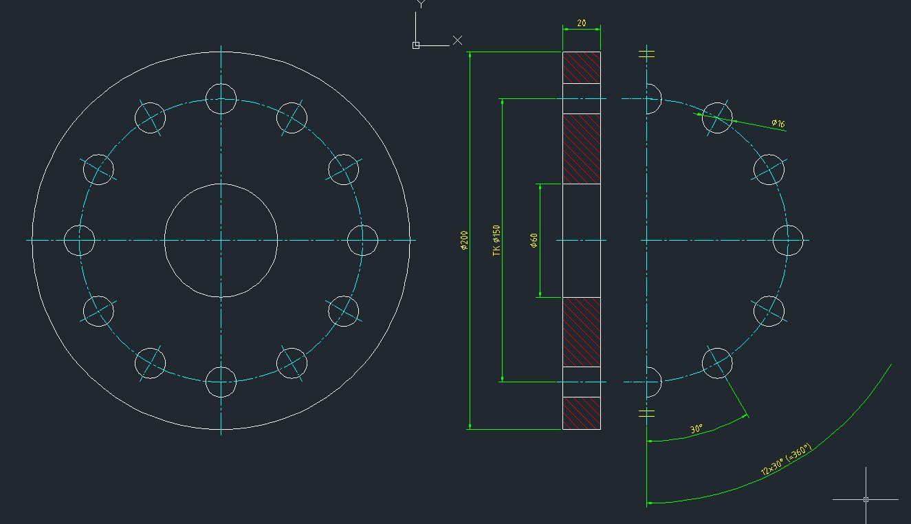 bohrungsteilkreis aus schnittansicht ziehen siehe anhang. Black Bedroom Furniture Sets. Home Design Ideas