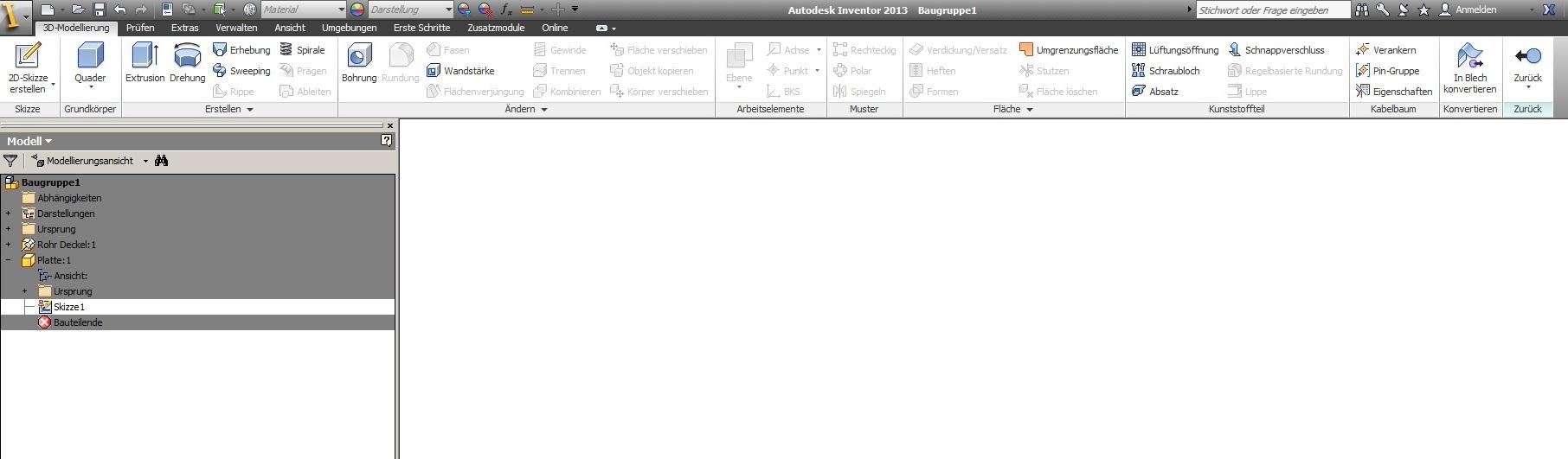 Bauteil erstellen, Problem mit Skizze (Autodesk/Inventor) - AUGCE.de
