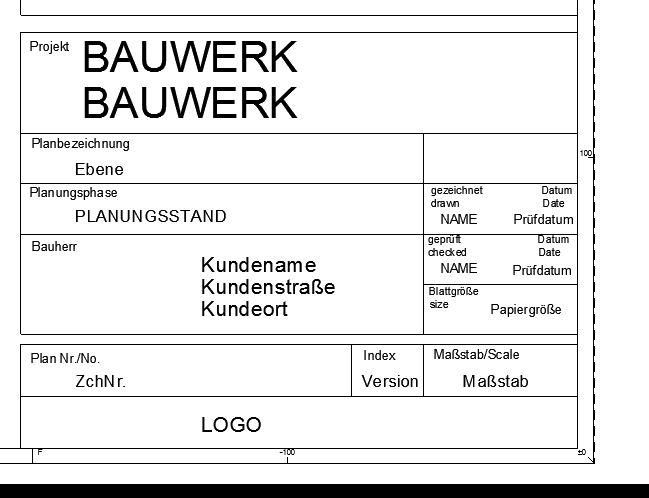 Wunderbar Titelblock Autocad Vorlage Zeitgenössisch ...