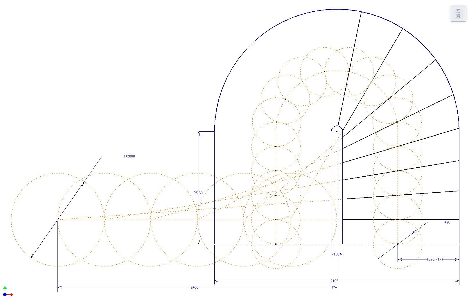 Halbgewendelte Treppe Konstruieren treppengeländer aus einem stück autodesk inventor augce de