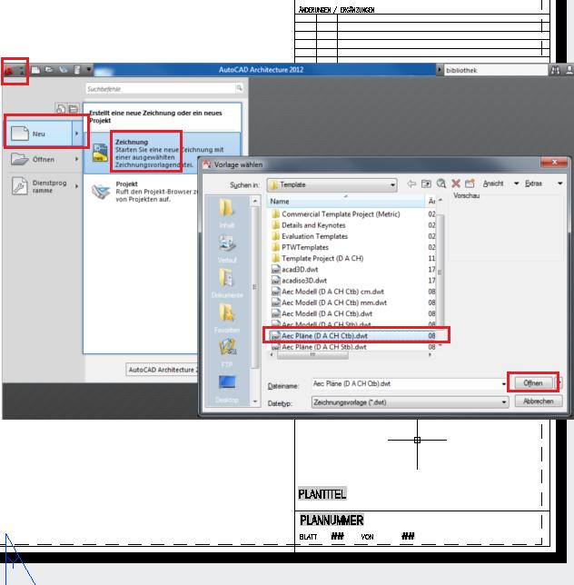 Plankopf (Autodesk/AutoCAD Architecture ACA (ADT)) - AUGCE.de