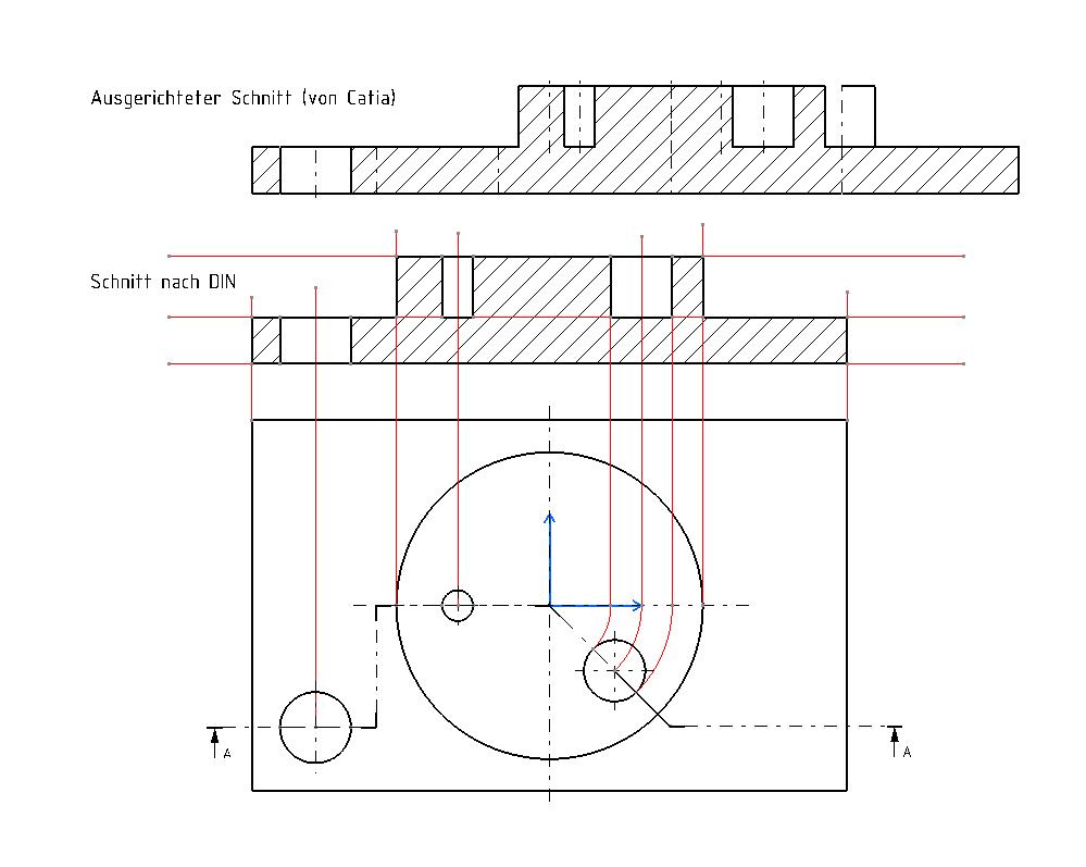 schnittverlauf in zeichnung dassault systemes plm solutions catia v5 allgemein foren auf. Black Bedroom Furniture Sets. Home Design Ideas