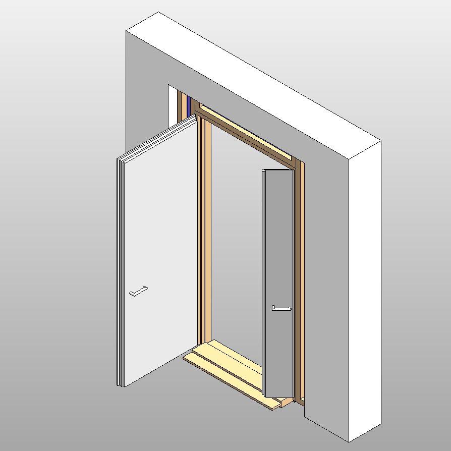 Geöffnete tür zeichnen  Tür geöffnet darstellen (Autodesk/AutoCAD Revit Architecture Suite ...