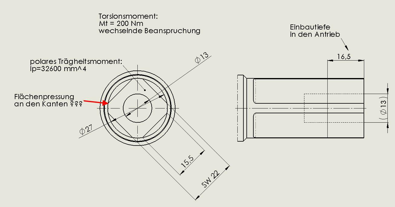 vierkant wn v berechnen wissenstransfer anlagen und maschinenbau berechnung von. Black Bedroom Furniture Sets. Home Design Ideas