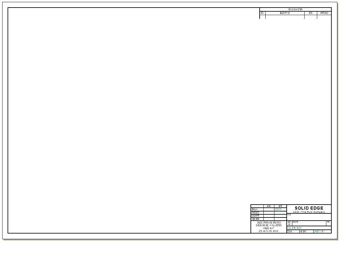 Draft-Vorlage verändern (Siemens PLM Software/Solid Edge) - Foren ...