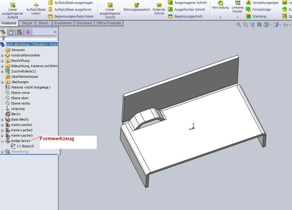 blech abwicklung in der zeichnung geht nicht ds. Black Bedroom Furniture Sets. Home Design Ideas