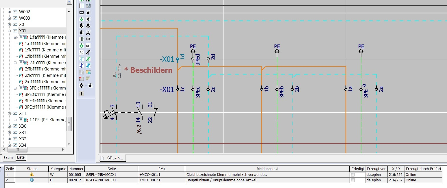Hauptklemme teilklemme im sp1 elektrotechnik eplan for Eplan login