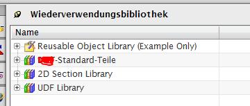 Bibliothek in Anwenderstandards hinzufügen (Siemens PLM Software/NX