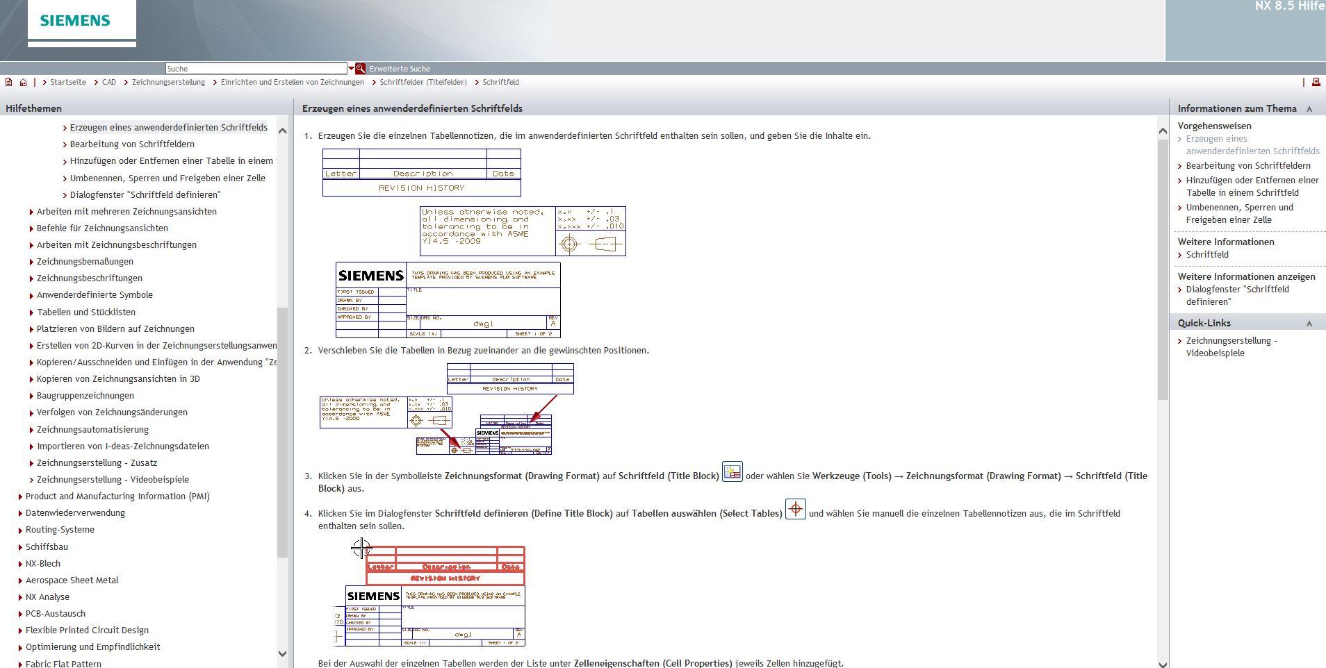 Zeichnungsrahmen/Schriftkopf (Siemens PLM Software/NX) - Foren auf ...