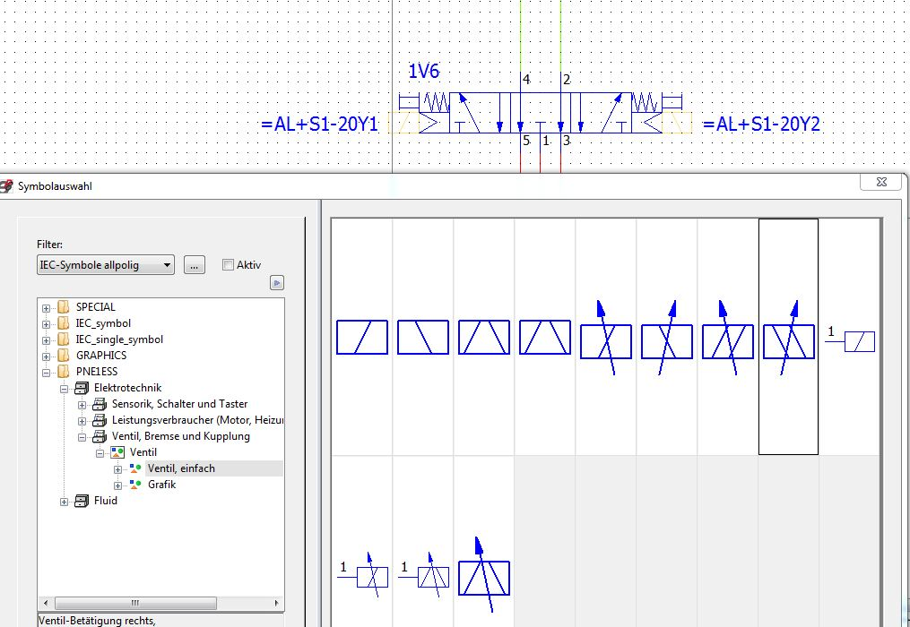 Pneumatikplan mit Querverweis (Elektrotechnik/EPLAN Electric P8 ...