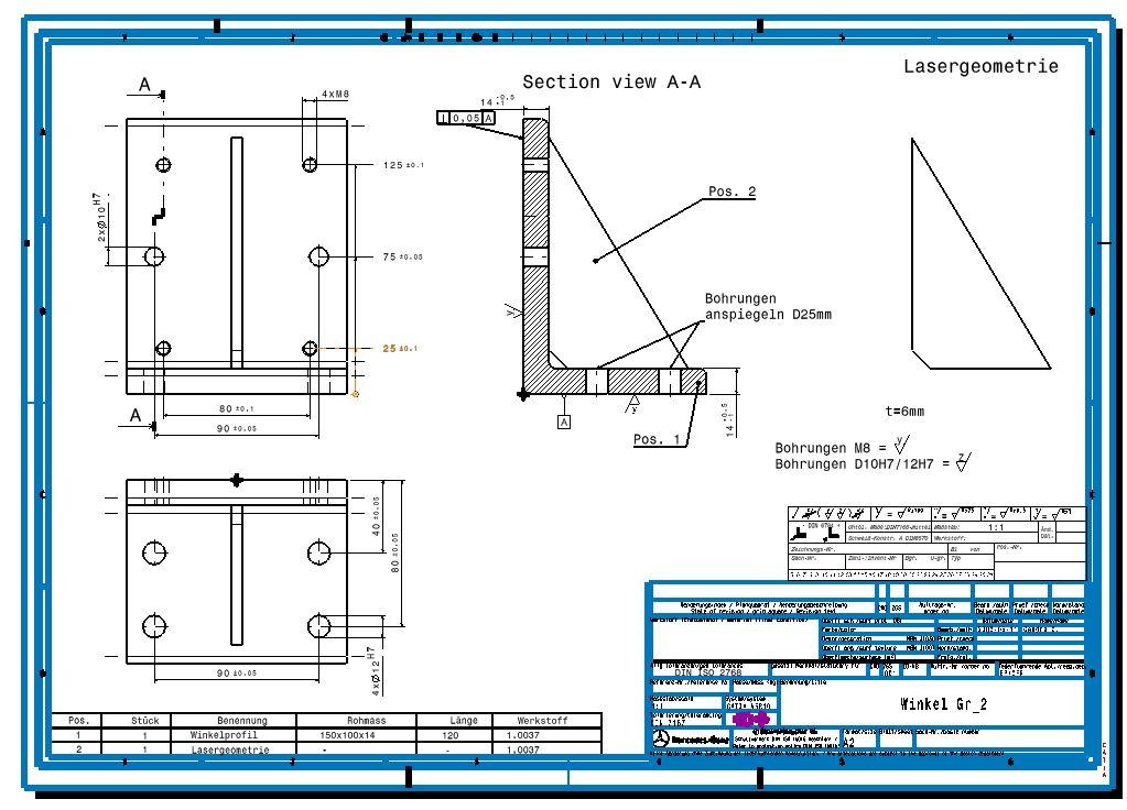 Dicke Rahmen (Dassault Systemes - PLM Solutions/CATIA V5 Drafting ...