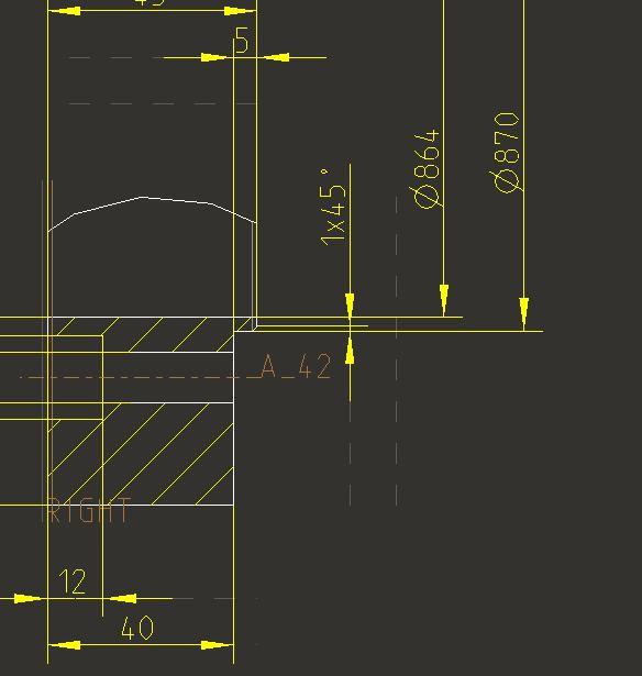 Durchmesserbemaßung im Schnitt (PTC Engineering Solutions ...